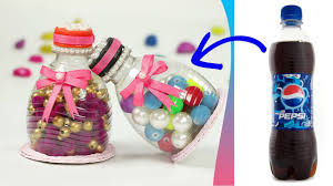 plastic bottle craft recycling ideas how to make container with