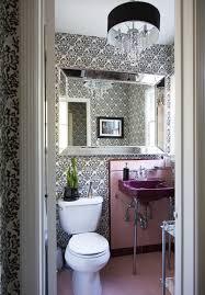 Pink Tile Bathroom Ideas Colors Powder Room Photos 3 Of 14