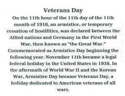 Memorial and Veteran Day Observances VFW Post