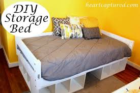bed frames easy cheap diy storage bed diy twin storage bed king