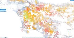 Seattle Demographics Map by Racial Dot Map In La Highlights Segregation By Neighborhood Huffpost