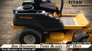 cub cadet rzt50 riding mower sold on els youtube