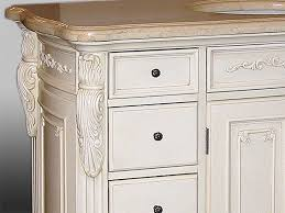 Casey Inch Traditional Antique Single Bath Vanity With Marble Top - 48 bathroom vanity antique white