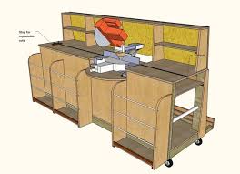 Rolling Wood Storage Rack Plans by Combo Miter Saw Station Lumber Rack 13 Steps With Pictures