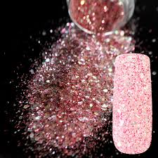 aliexpress com buy sparkle rose red glitter nail art mix size