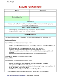 Resume Examples Retail Manager by Resume For Welder Free Resume Example And Writing Download