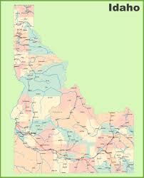 Map Of Washington Cities by Road Map Of Idaho With Cities And Towns