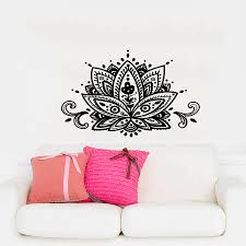 popular yoga wall decals buy cheap yoga wall decals lots from dsu yoga lotus wall decals india mandala om viny bedroom wall stickers removable home decor cw