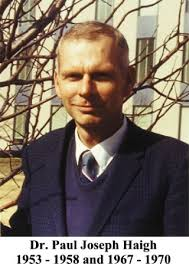 In 1953, Paul Joseph Haigh was added to the Physics faculty and served as Associate Professor ... - PaulHaigh