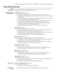 Example Resume  Objective Resume Examples  summary of experience