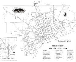 Detroit Michigan Map by Detroit Transit History Info 1941 Dsr Map U2013 Street Car Lines