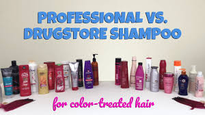 professional vs drugstore the best shampoo for color treated