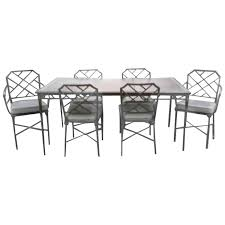 Bamboo Dining Room Furniture by Brown Jordan Seven Piece Calcutta Faux Bamboo Patio Set Of Dining