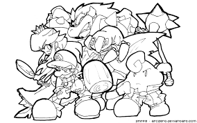 mario characters coloring pages getcoloringpages com