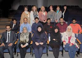 Pictured in front row  from left  is Dr  Jarman Algahtani  University of King s College