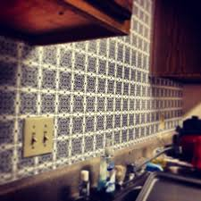 using contact paper as a backsplash or wallpaper easy super