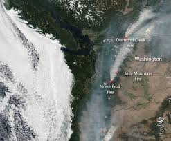 Willow Wildfire California by Burn Scars From The Rocky Fire California Nasa