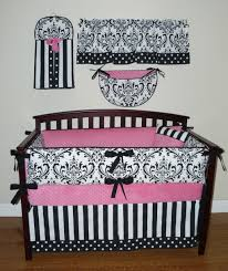 bedroom design pretty mix of gray and pink crib bumper with
