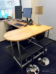 Xbox Gaming Desk by 37 Diy Standing Desks Built With Pipe And Kee Klamp Simplified