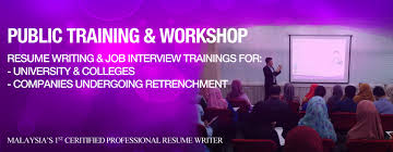 Job Resume Malaysia by Public Workshops U0026 Training Certified Resume Writing Service