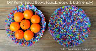 thricethespice super easy diy perler bead dishes
