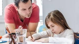 A girl doing her homework