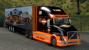 volvo 18 wheeler dealer volvo vnl 780 harley davidson 17 trailer 1 18 ets 2 euro truck
