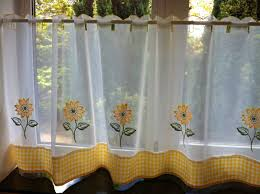 sunflower curtains for kitchen the cheerful sunflower kitchen