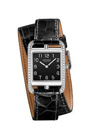 hermes stainless steel cape cod watch with diamond double tour