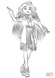 uma from descendants coloring page free printable coloring pages