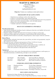 Sample Of Warehouse Worker Resume by 6 Warehouse Job Resume Park Attendant