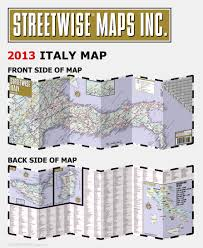 streetwise italy map laminated country road map of italy