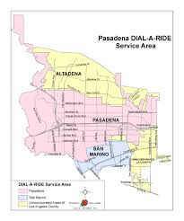 Los Angeles County Map by Dial A Ride U2013 Pasadena Transit
