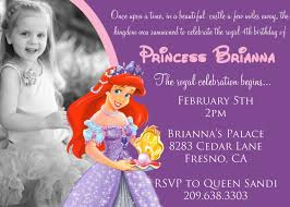 Create Birthday Invitation Card Online The Little Mermaid Birthday Invitations Baby Shower For Parents