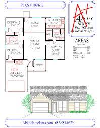 Garage Floorplans Floor Plan 1098 101 One Story House Plan 1098 Sqft 3 Bedroom 2