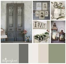 Gray Color Schemes For Kitchens by Rustic Vintage Color Palette Weathered Wrought Iron With Accents