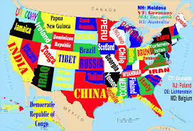 Unite States Map by This Map Shows The United States If Each State Were Named For The