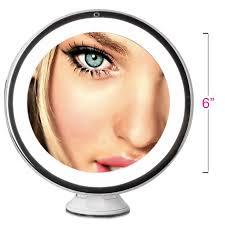 lighted travel makeup mirror 10x mugeek vidalondon