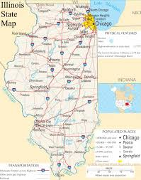 Large Map Of Usa by Illinois State Map A Large Detailed Map Of Illinois State Usa