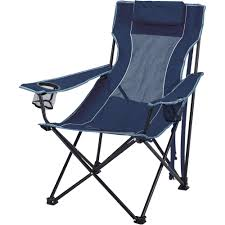 Canopy Folding Chair Walmart Ozark Trail Oversized Mesh Lounge Camping Chair With Cup Holders
