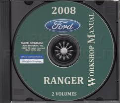 2008 ford ranger repair shop manual original 2 volume set