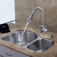 kitchen sink faucet reviews home decoration ideas kraus kbu21 kpf1650 ksd30ch 30 undermount 60 40 double bowl stainless steel kitchen kitchen bar faucets touchless kitchen sink faucet reviews