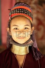 NAI SOI, THAILAND - FEB 3: Unidentified Karen long neck young woman in the village, review of daily life of local people, Padaung tribe near to Myanmar ... - 12386240-nai-soi-thailand--feb-3-unidentified-karen-long-neck-young-woman-in-the-village-review-of-daily-life