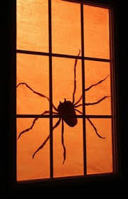 diy halloween window silhouettes made by me giggleberry