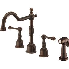 danze d422257br opulence tumbled bronze two handle with sidespray