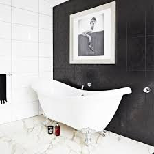 Black And White Small Bathroom Ideas Black And White Bathroom Designs Ideal Home