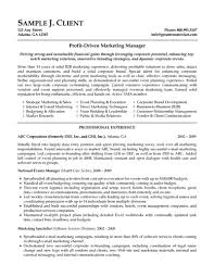 Professional Experience And Education For Marketing Manager Resume Template With National Manager And Marketing Specialist