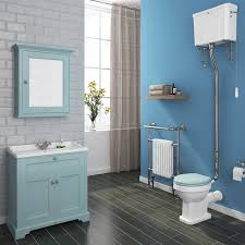 downton abbey traditional vanity unit 800mm wide duck egg blue