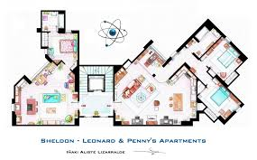 Big House Plans by Sheldon Leonard And Penny Apartment From Tbbt By Nikneuk On