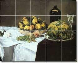 Fruit Rugs Edouard Manet Fruit Vegetables Shower Tile Mural 27 Best For